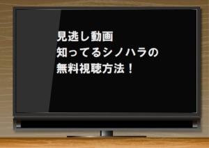 見逃し動画|知ってるシノハラの無料視聴方法!有料の独占配信サイトで1話から最新話まで!