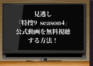 見逃し『特捜9 season4』の公式動画を無料視聴できる動画配信サイト!全話のあらすじ・感想も