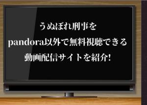 うぬぼれ刑事,動画,pandora,YouTube,ムロツヨシ,配信