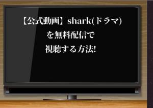 【公式動画】shark(ドラマ)を無料配信で視聴する方法!Huluでタダで平野紫耀を見る!