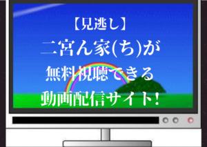 【見逃し配信】二宮ん家(ち)が無料視聴できる動画サイト!パンドラ・dailymotionは視聴可?