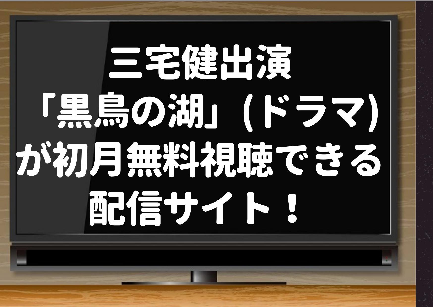 三宅健出演「黒鳥の湖」(ドラマ)が初月無料視聴できる見逃し配信サイト!NetflixやHuluでも見られる? | ジ...
