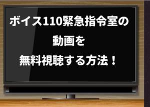 ボイス110緊急指令室の動画を1話から最終回までpandora・dailymotion・youtubeで無料で見ることができる...